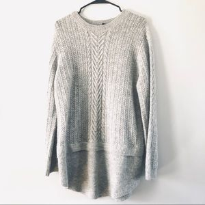 Tahari Grey Knit Sweater